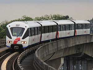Станция метро LRT Ара Дамансара возле LEA ПД